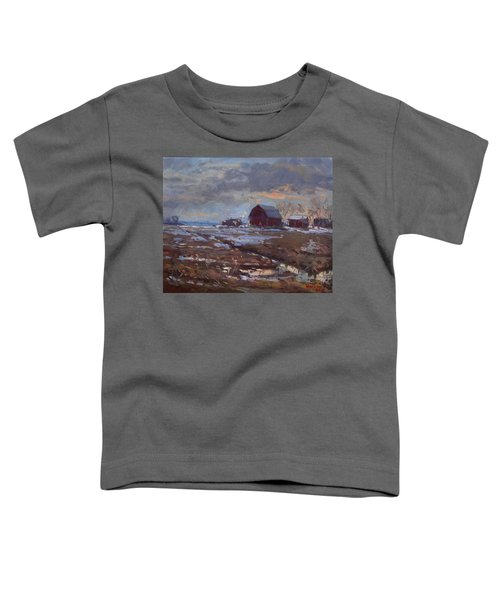 Red Barns In The Farm Toddler T-Shirt