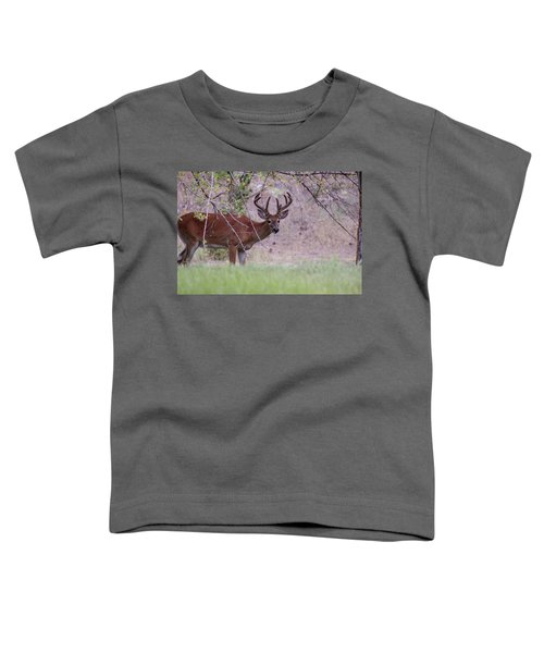 Toddler T-Shirt featuring the photograph Red Bucks 2 by Antonio Romero