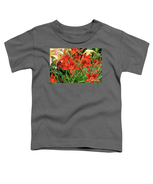 Red Daylilies Toddler T-Shirt