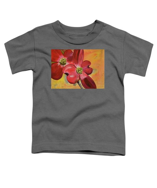 Red Dogwood - Canvas Wine Art Toddler T-Shirt