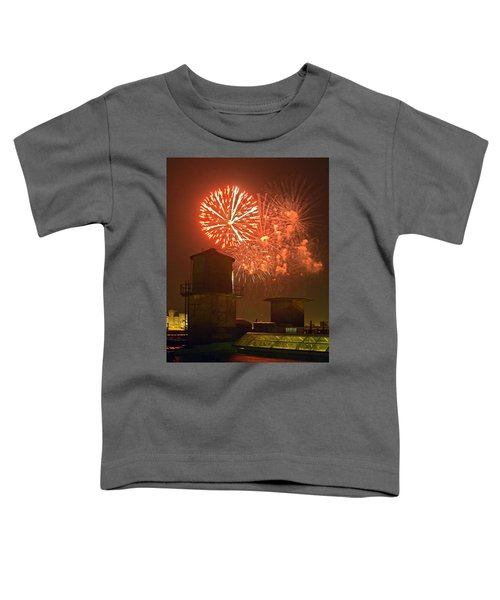 Red Fireworks Toddler T-Shirt