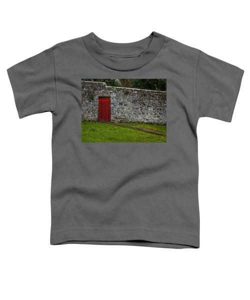 Toddler T-Shirt featuring the photograph Red Gate At Coole Park Estate by James Truett