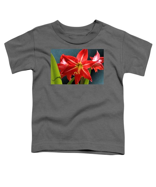Red Lily Flower Trio Toddler T-Shirt