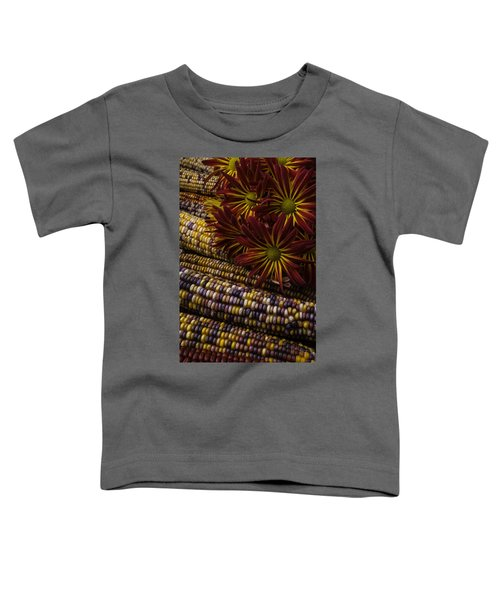 Red Mums And Indian Corn Toddler T-Shirt