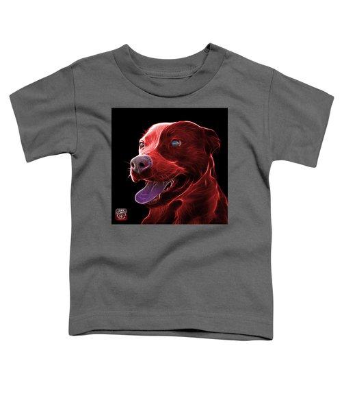 Red Pit Bull Fractal Pop Art - 7773 - F - Bb Toddler T-Shirt