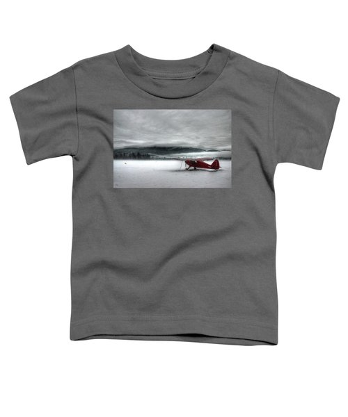 Red Plane In A Monochrome World Toddler T-Shirt