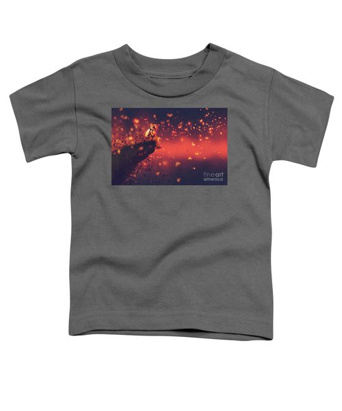 Toddler T-Shirt featuring the painting Red Planet by Tithi Luadthong