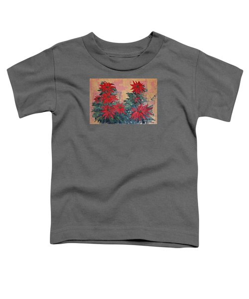 Red Poinsettias By George Wood Toddler T-Shirt
