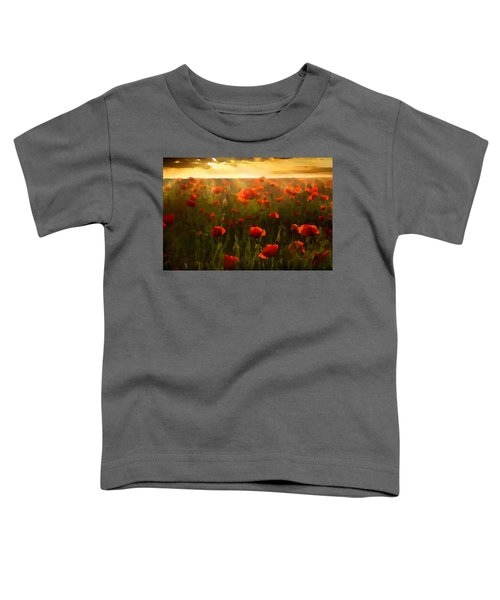 Red Poppies In The Sun Toddler T-Shirt