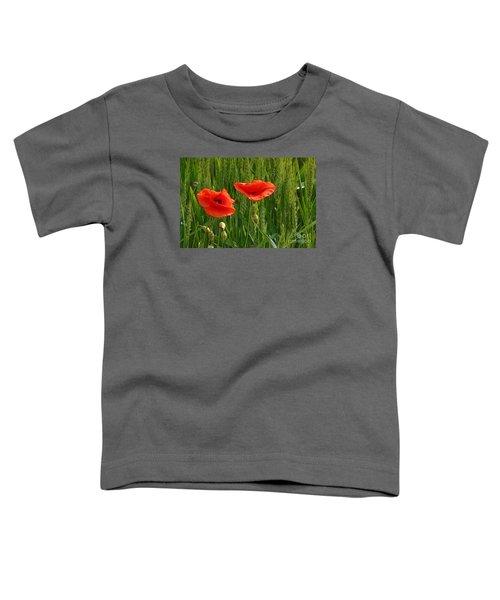 Red Poppy Flowers In Grassland 2 Toddler T-Shirt