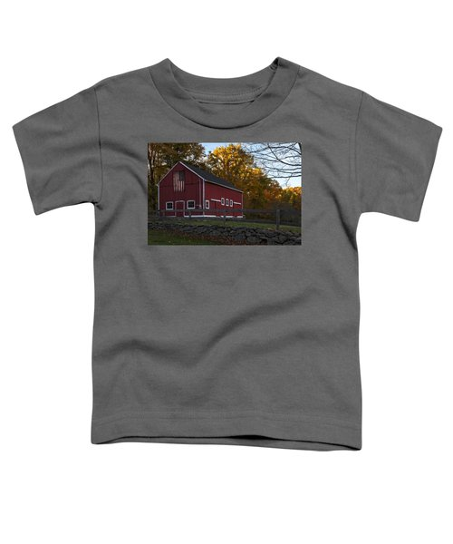 Red Rustic Barn Toddler T-Shirt