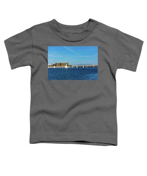 Red Sailboat In The Desert Toddler T-Shirt