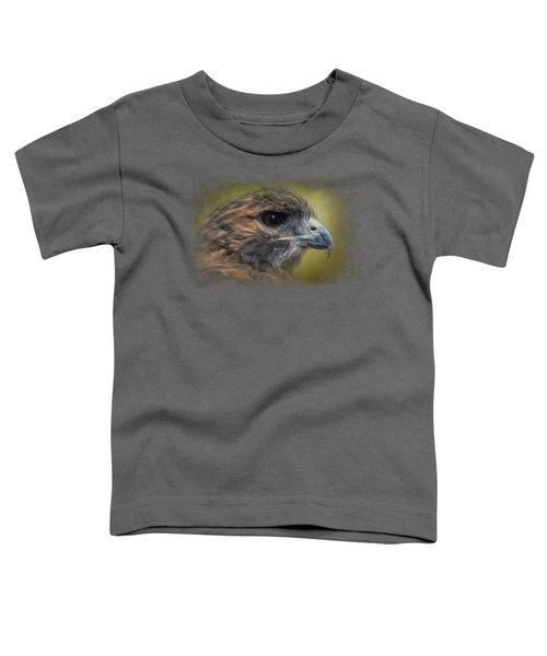 Red Tailed Hawk At Reelfoot Toddler T-Shirt by Jai Johnson