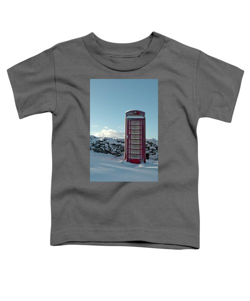 Red Telephone Box In The Snow IIi Toddler T-Shirt