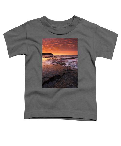 Red Tides Toddler T-Shirt by Mike  Dawson