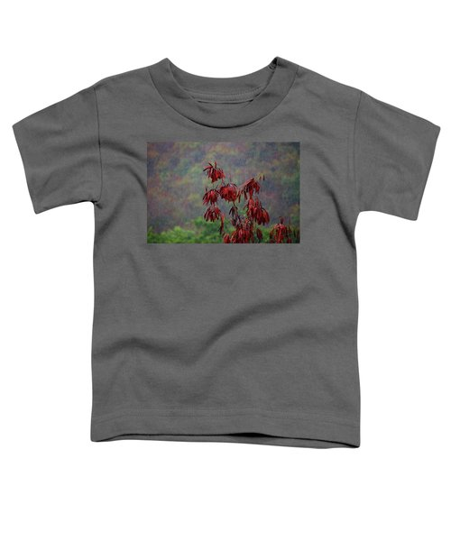 Red Tree In The Rain Toddler T-Shirt