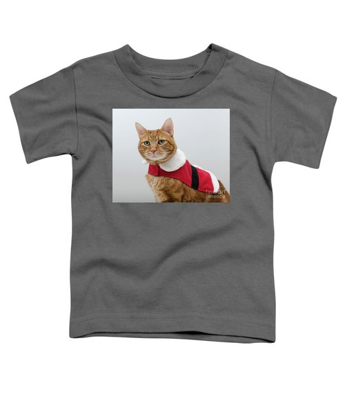 Red Tubby Cat Tabasco Santa Clause Toddler T-Shirt