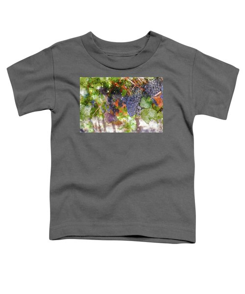 Red Wine Grapes On The Vine In Wine Country Toddler T-Shirt