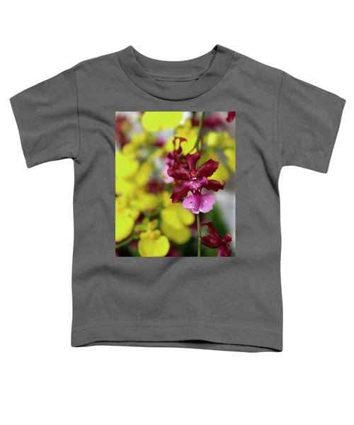 Maroon And Yellow Orchid Toddler T-Shirt