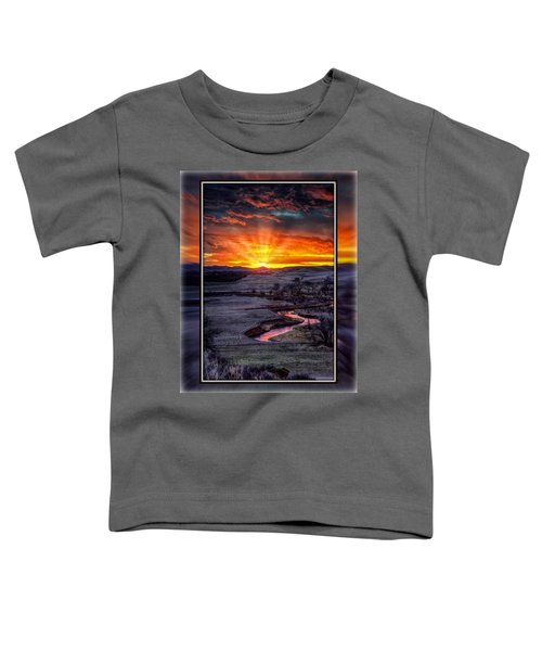 Redwater River Sunrise Toddler T-Shirt