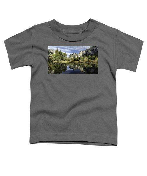 Reflecting On Yosemite Toddler T-Shirt