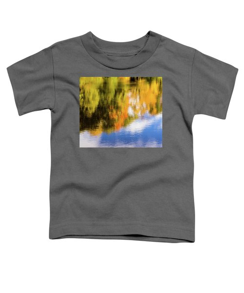 Reflection Of Fall #2, Abstract Toddler T-Shirt