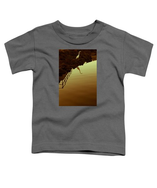 Toddler T-Shirt featuring the photograph Elegant Bird by Lora Lee Chapman