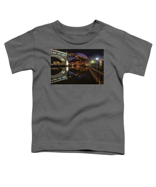 Reflections Of Veterans Memorial Bridge  Toddler T-Shirt