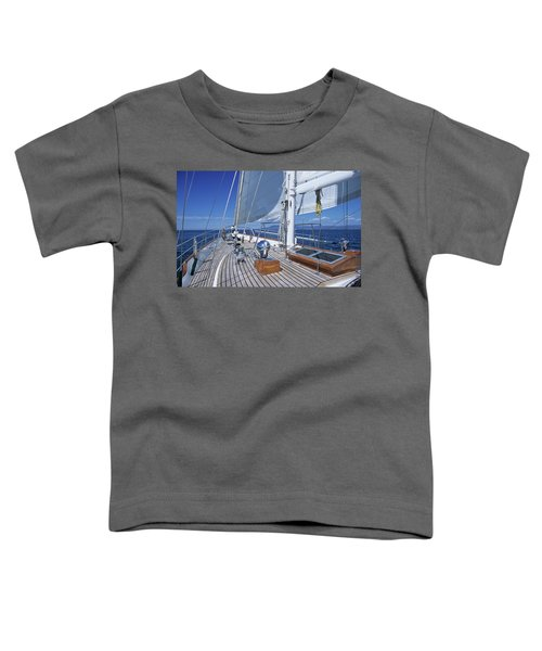Relaxing On Deck Toddler T-Shirt