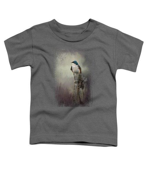 Resting Tree Swallow Toddler T-Shirt by Jai Johnson