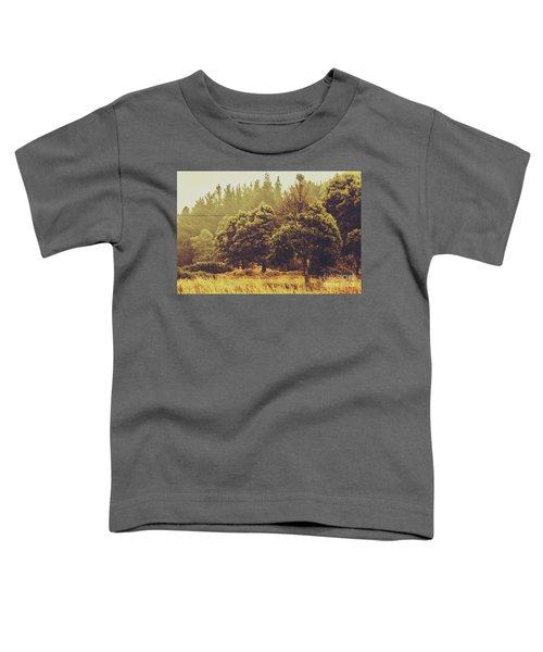 Retro Rural Tasmania Scene Toddler T-Shirt