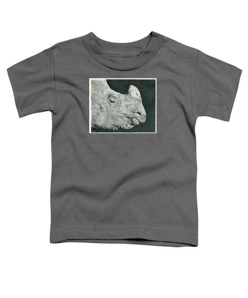 Rhino Pencil Drawing Toddler T-Shirt