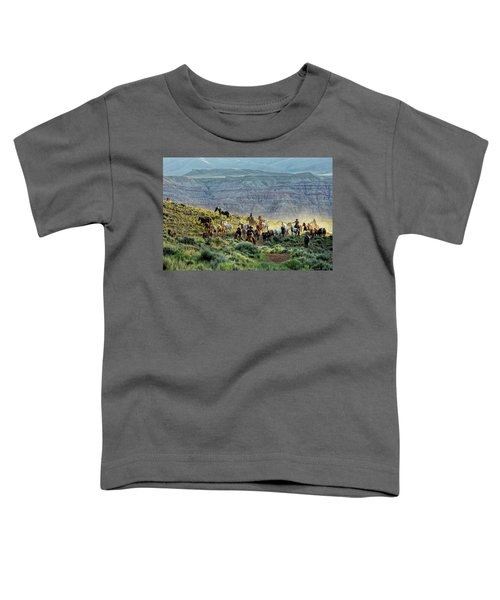 Riding Out Of The Sunrise Toddler T-Shirt