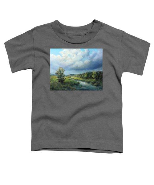River Landscape Spring After The Rain Toddler T-Shirt