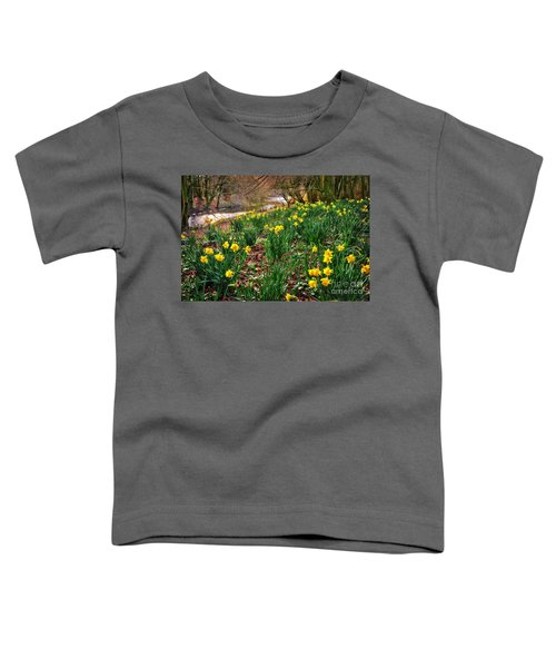 Riverside Daffodils In Spring Toddler T-Shirt
