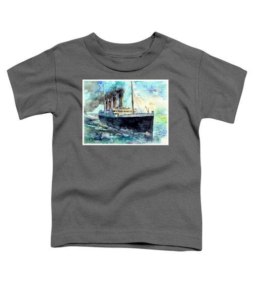 Rms Titanic White Star Line Ship Toddler T-Shirt