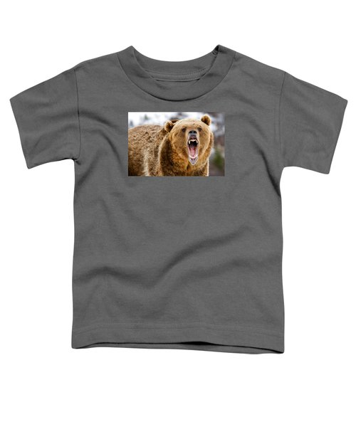 Roaring Grizzly Bear Toddler T-Shirt