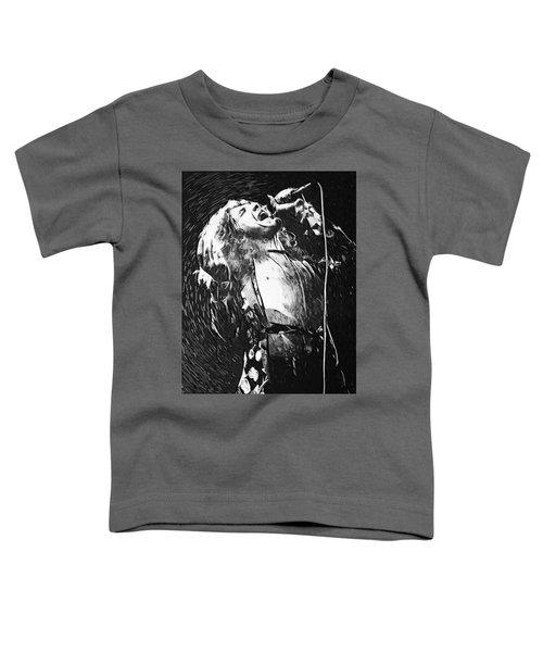 Robert Plant Toddler T-Shirt by Taylan Apukovska