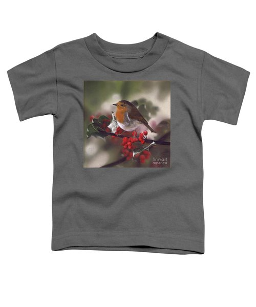 Robin And Berries Toddler T-Shirt