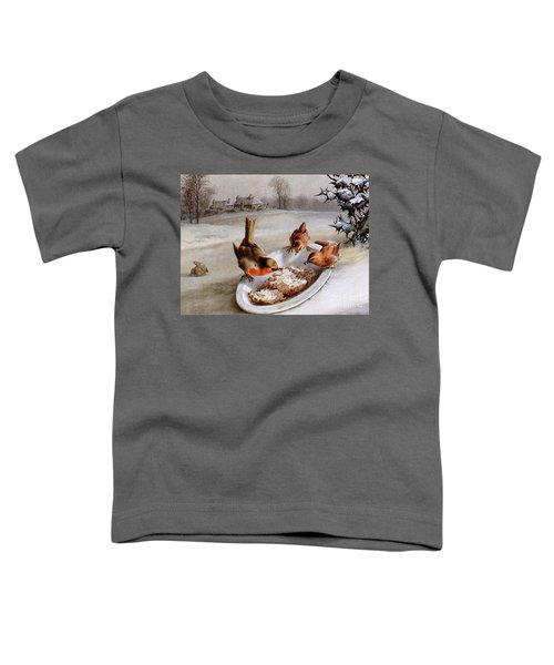 Robins And Wrens  Winter Breakfast Toddler T-Shirt