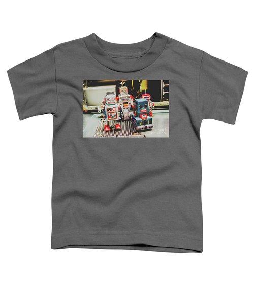 Robots Of Retro Cool Toddler T-Shirt