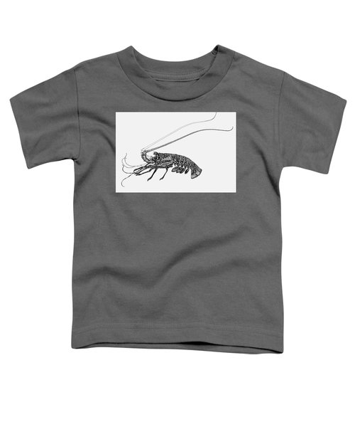 Toddler T-Shirt featuring the drawing Rock Lobster by Judith Kunzle