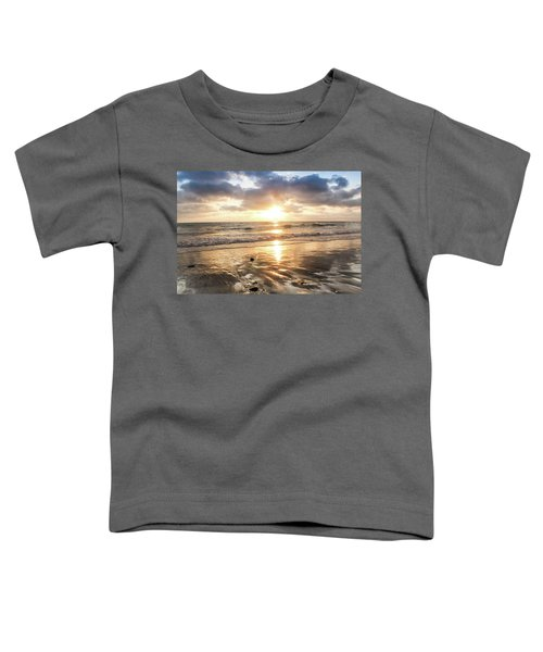 Toddler T-Shirt featuring the photograph Rock 'n Sunset by Alison Frank