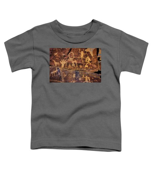 Rock Wall Of Petroglyphs Toddler T-Shirt