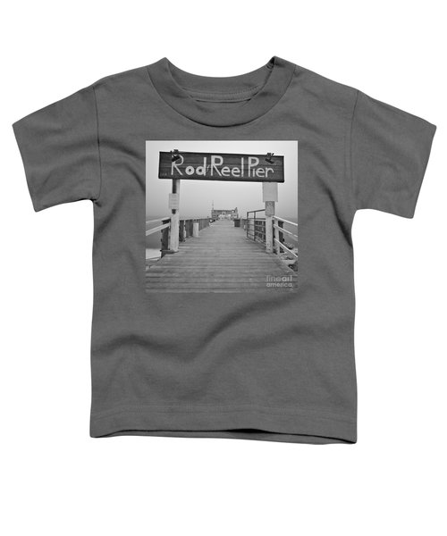 Rod And Reel Pier In Fog In Infrared 53 Toddler T-Shirt