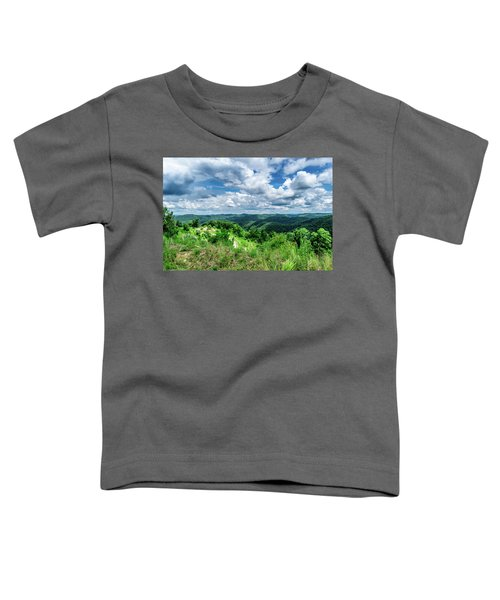 Rolling Hills And Puffy Clouds Toddler T-Shirt