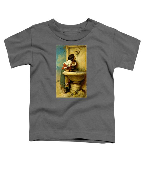 Roman Girl At A Fountain Toddler T-Shirt