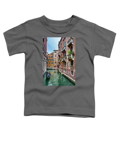Gondola Ride Surrounded By Vintage Buildings In Venice, Italy Toddler T-Shirt