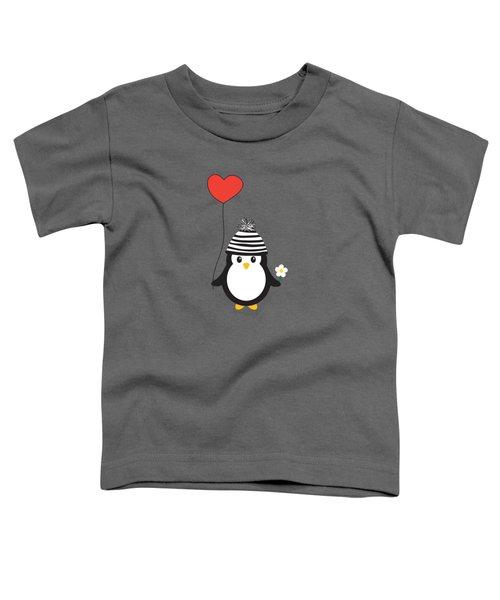 Romeo The Penguin Toddler T-Shirt by Natalie Kinnear