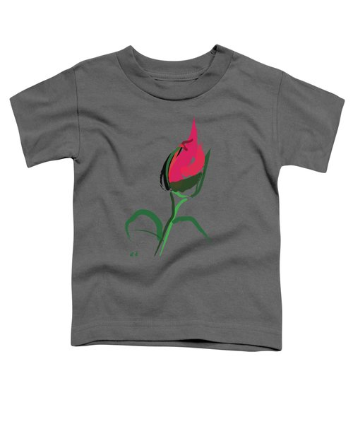 Toddler T-Shirt featuring the painting Rose Bud by Go Van Kampen